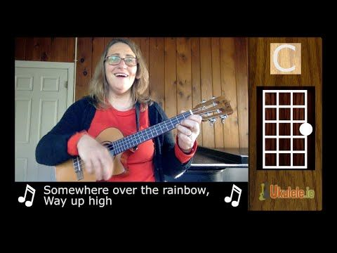 how to play somewhere over the rainbow on baritone ukulele