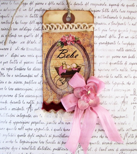 french inspired Bebe gift tag by jolipapier