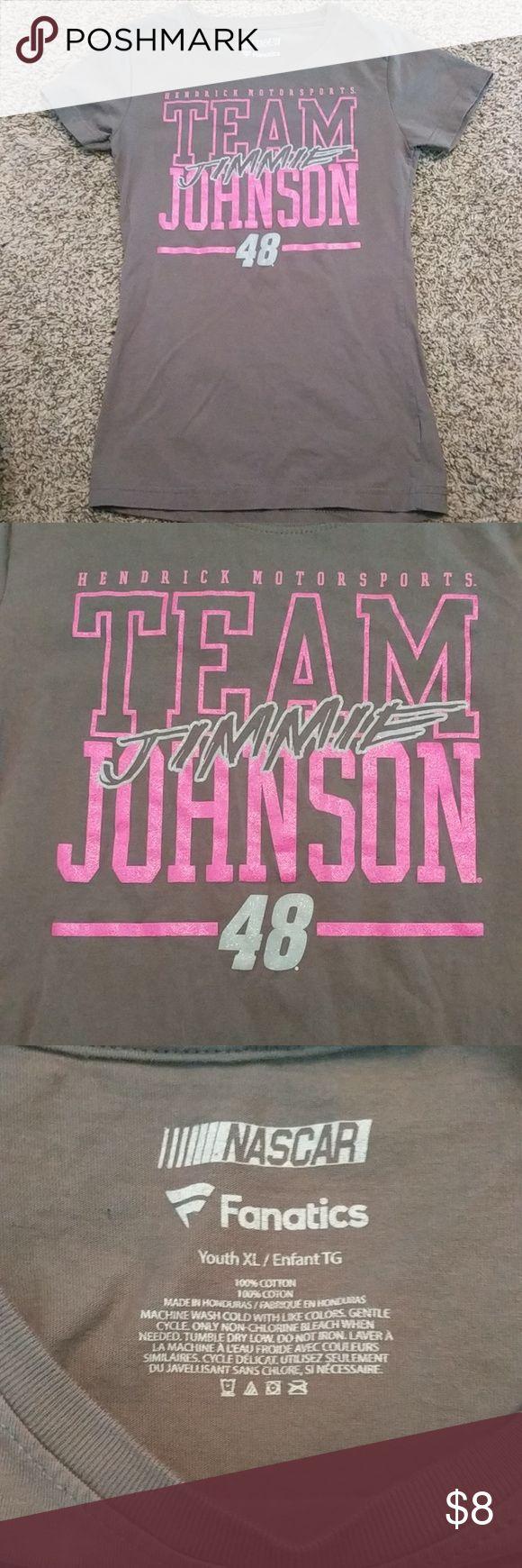 Girls Jimmie Johnson t-shirt Youth Jimmie Johnson t-shirt.  Like new Nascar Shirts & Tops