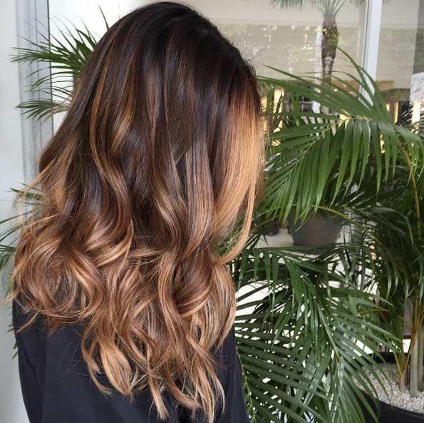 Ombr hair brun caramel lisse - Ombre hair brun caramel ...