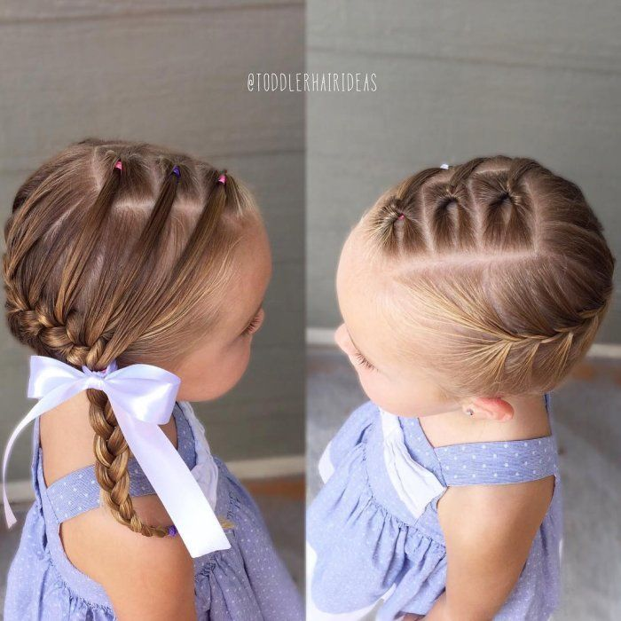 Toddler twist and braid hairstyle