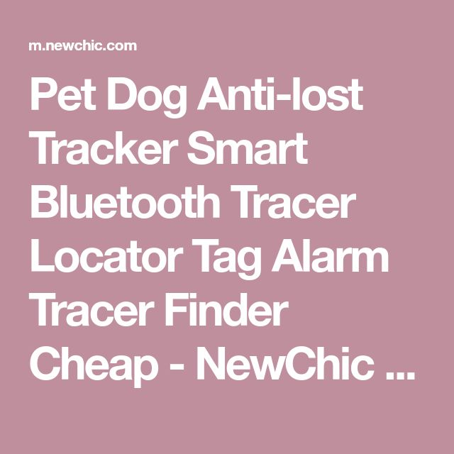 Pet Dog Anti-lost Tracker Smart Bluetooth Tracer Locator Tag Alarm Tracer Finder Cheap - NewChic Mobile