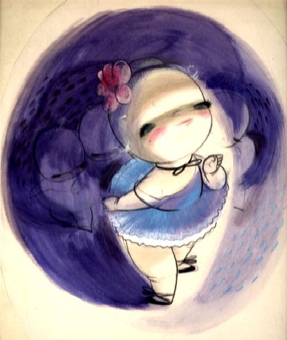 Mary Blair: Baby Ballet Disney concept art.