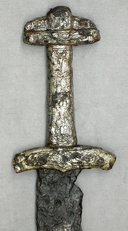 Battered by time and nature,  this is still a beautiful example of an early medieval Viking sword from Finland.