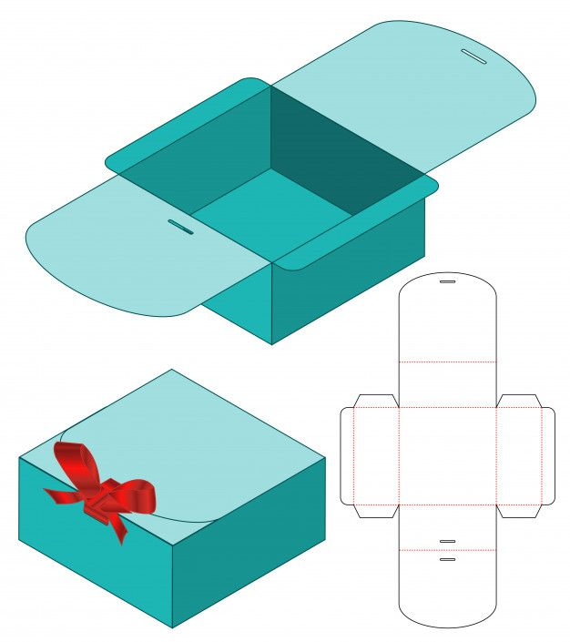 Box packaging die cut template design Premium Vect…