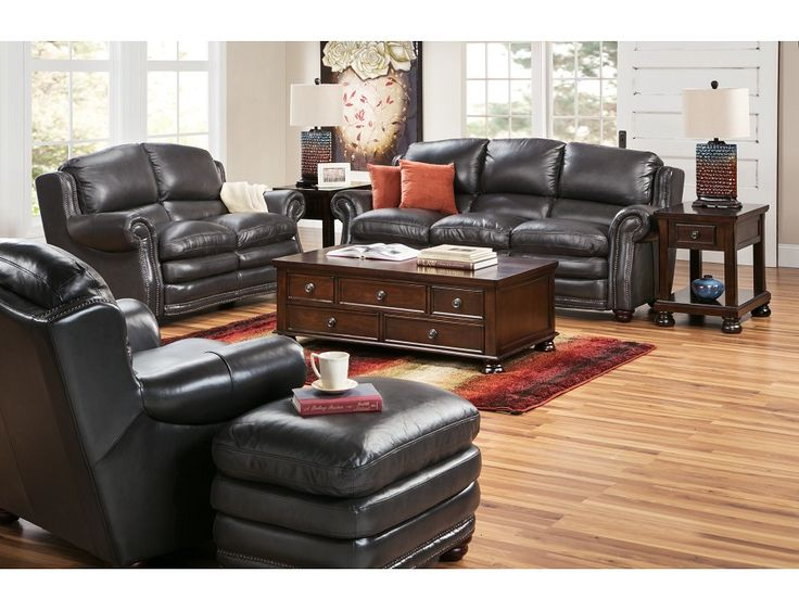 Relax In Style In The Black Leather Kensington Collection