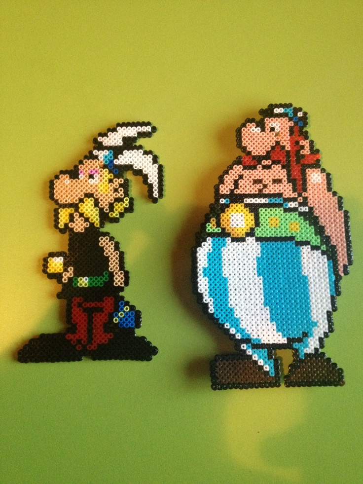 Asterix obelix hama beads by anna mim font hama bead pinterest polices d 39 criture - Perles a coller fer a repasser ...