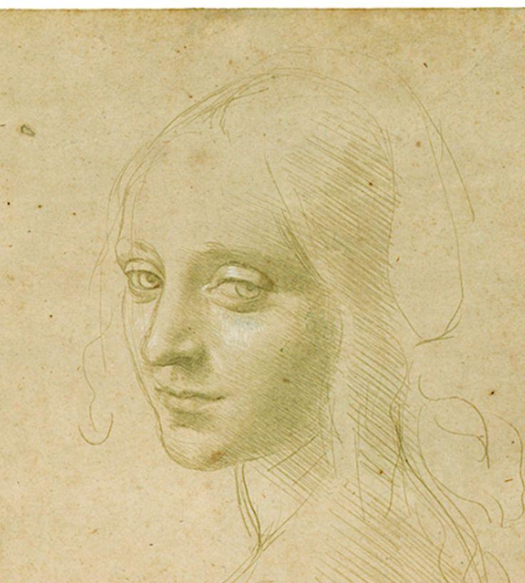 Study for the Angel's Head, The Virgin of the Rocks, Leonardo Da Vinci, 1483, Turin, Bibleoteca Reale   Aboveboards