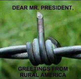Maybe in his own stupidity our president is showing his support of barbed wire?????