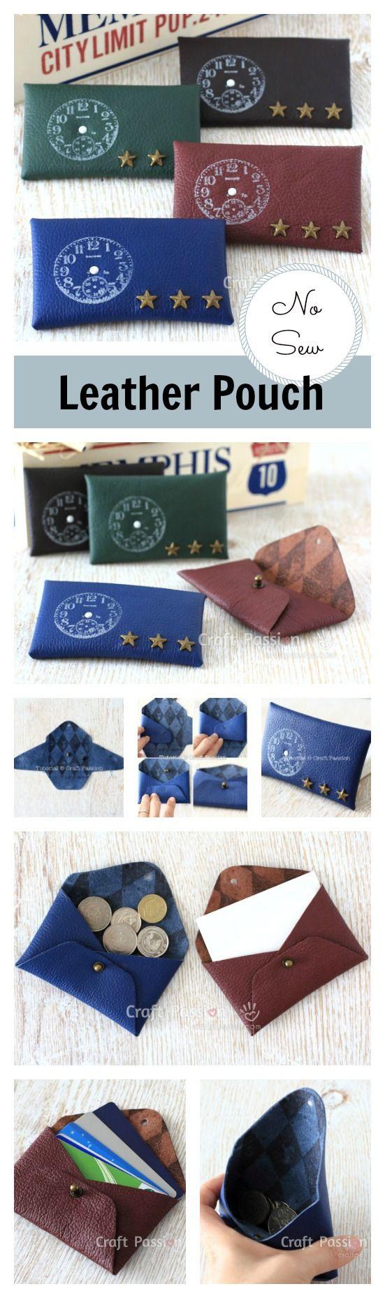 best 25+ diy coin purse no sew ideas on pinterest | diy coin purse