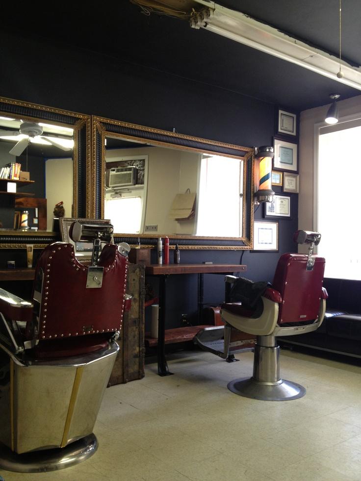 209 best hugh 39 s barbershop images on pinterest - Barber shop interior ...