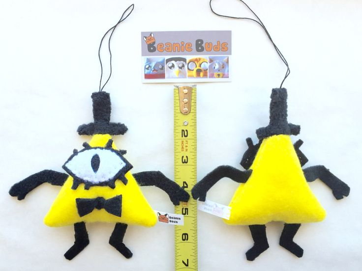 Bill Cipher plush ornament, Bill Cipher plush toy, Gravity Falls fan art, plushie door knob hanger, cartoon gift tag, nerd gifts, home decor by BeanieBudsAZ on Etsy