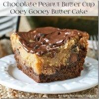 Chocolate Peanut Butter Ooey Gooey Butter Cake