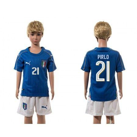 Italien Trøje Børn 2016 #Pirlo 21 Hjemmebanetrøje Kort ærmer.199,62KR.shirtshopservice@gmail.com