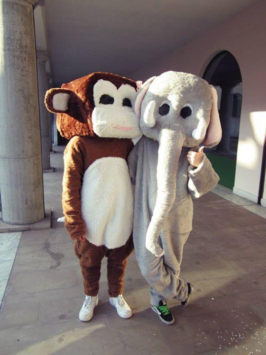 Mascotte Scimmia e Mascotte Elefante 'Paradise Coldplay'