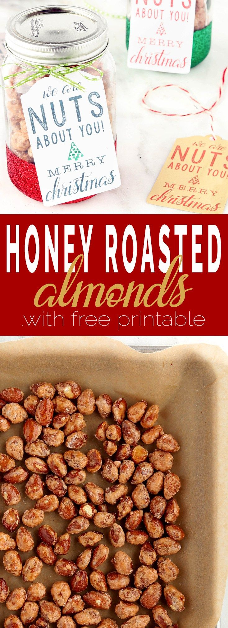Easy, whole food honey roasted almonds made from scratch with toasted almonds, coconut sugar, honey and coconut oil. Refined sugar free, vegan and gluten-free.