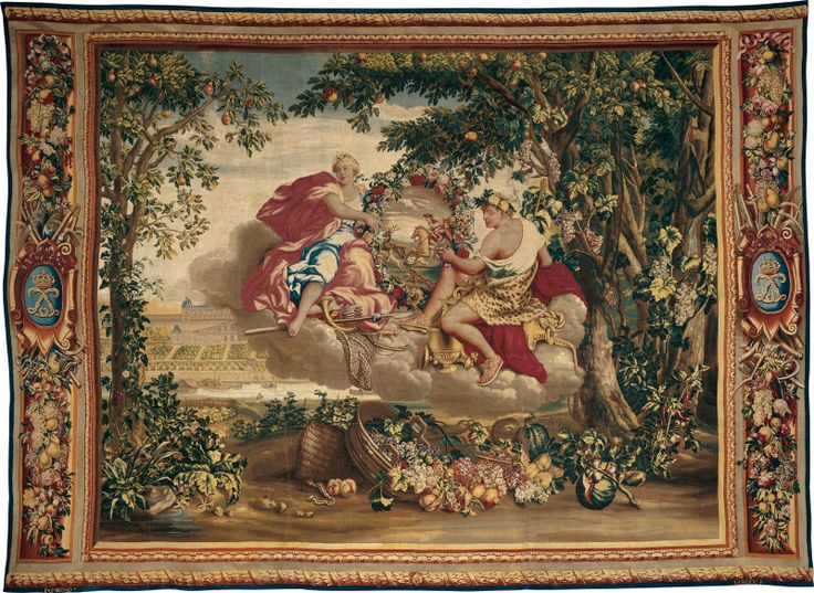"""Autumn"" from ""The Seasons"" ~ tapestry design by Charles Le Brun, woven at workshop of Etienne Le Blond & Jean de La Croix , 1700-20, The Art Institute of Chicago."