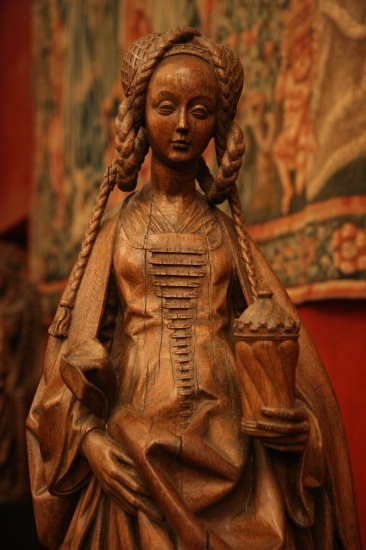 Cluny Museum, ParisA beautiful wood-carved statue of Saint Mary Magdalene from Brussels, c.1566.