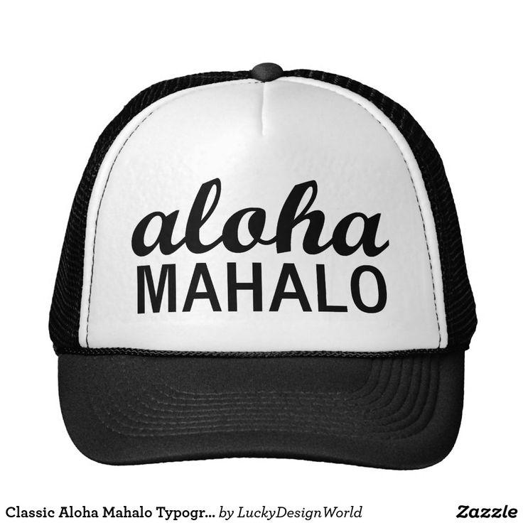Typographie de Mahalo de classique Aloha