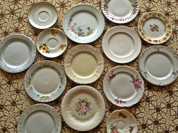 Mismatched Vintage Wedding Plates For Sale