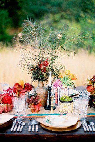 Богемный декор   основных трендов в свадебном декоре ...