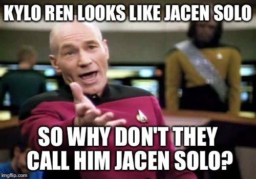 Kylo Ren/Jacen Solo Star Wars Episode VII