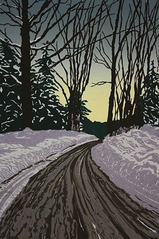 Allen Hill Press | Jeanne Robacker Amato | Vermont Woodcut Printmaker