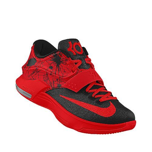 Nike KD 7 id *Not sure of the name but the red tank black basketball shorts and red and black ...