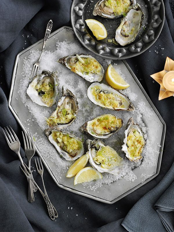 This recipe for grilled oysters with fennel and lemon butter is a really impressive starter and a great way to introduce people to oysters. Your fishmonger can shuck the oysters if you prefer.