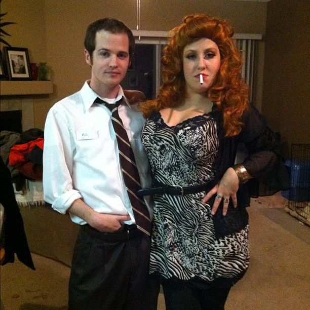 Pin for Later: 93 Creative Couples Costume Ideas Al and Peggy Bundy From Married With Children