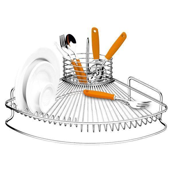 Aramados e Organizadores! Deixe a sua cozinha com mais estilo, bonita e organizada. ESCORREDOR DE LOUÇAS NOBILITÀ - CAPRICCIO Este escorredor possui estrutura em aço piatina em formato de leque que proporciona design diferenciado e traz beleza para cozinha. Robusto, proporciona grande armazenamento de louças. A sua capacidade é para 12 pratos e conta com um porta talher aramado removível que pode ser usado como porta talher no momento de servir. Cozinha / Nobilità   Capriccio Capacidade:...