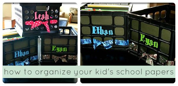 How to organize your kid's school papers- another great idea...