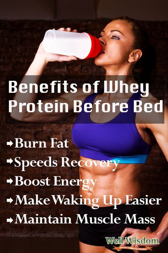 Drinking protein before bed has many benefits.Isapro by Isagenix is what I use.