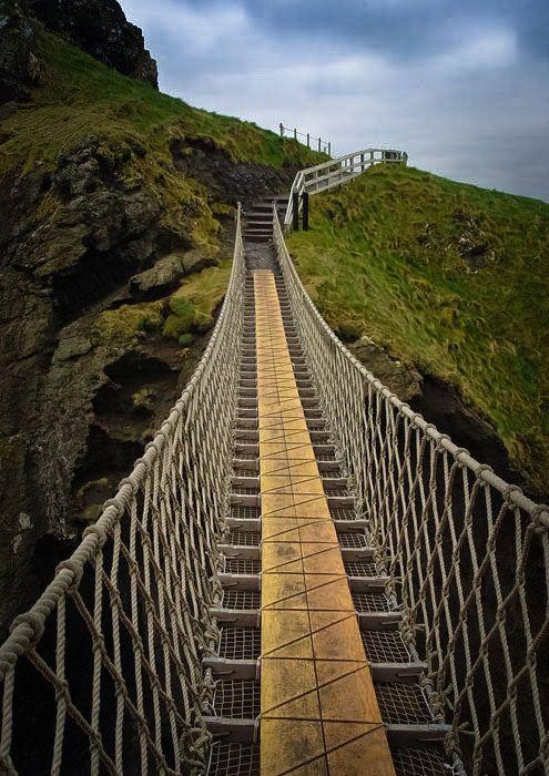 Carrick A Rede Rope Bridge Ballitoy County Antrim