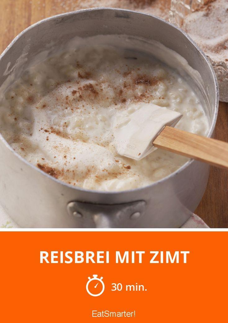 Reisbrei mit Zimt   http://eatsmarter.de/rezepte/reisbrei-mit-zimt