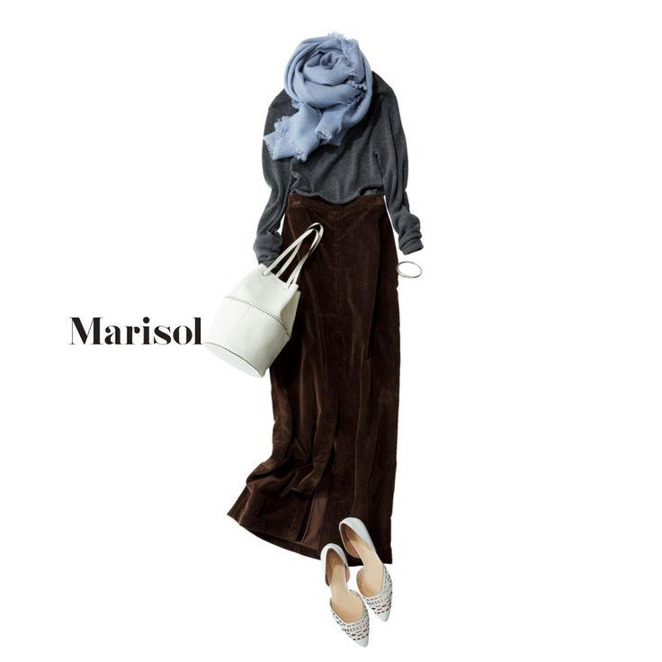 休日のゆるふわコーデから情熱的なイタリアンレッドのニットコーデまでMarisol ONLINE 女っぷり上々!40代をもっとキレイに。
