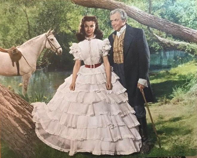 "Oil painting 24x30 Gone with the Wind at Westport River Gallery ""What Difference""— Scarlett's father Gerald advises her to marry a Southerner."