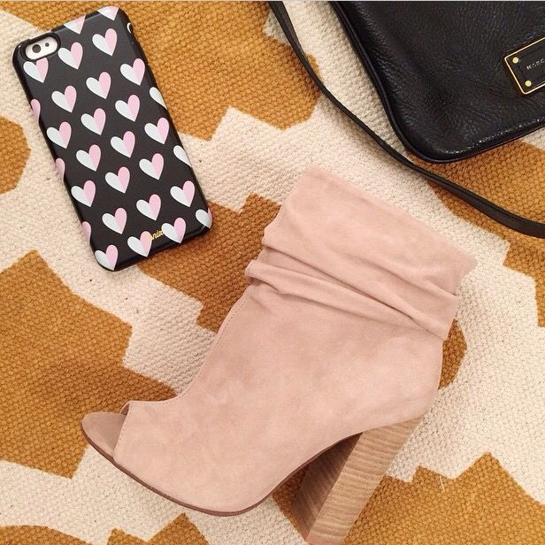 Take it to the next level with those beautiful kid suede booties by Kristin  Cavallari and Chinese Laundry shoes.