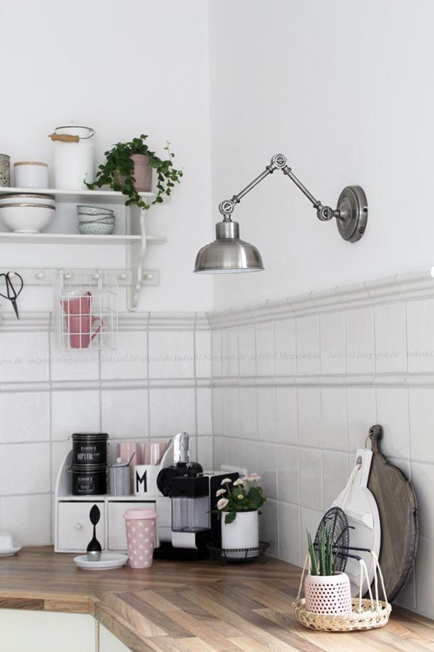 #hellospring Frühlingsdeko in der Küche, Gelenklampe