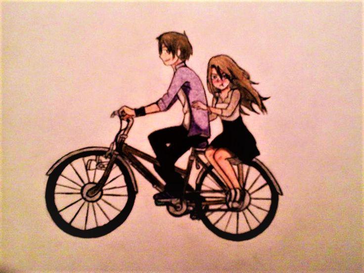 pareja en bicicleta by aglowsnake93.deviantart.com on @DeviantArt