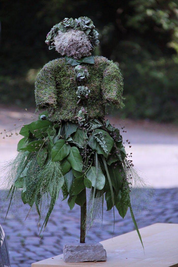 Bloemschikken Rosalie | Decoratie Najaar Bosvrouwtje Lady in Green flower decoration fall