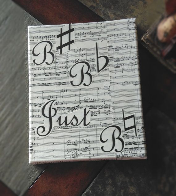 Just Be Natural Music Canvas by RoseAllenCreations on Etsy