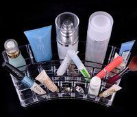 Acrílico cosméticos 15pcs organizador organizador de maquillaje cepillo cristal titular de lápiz labial organizador de cristal caja de presentación cosmética