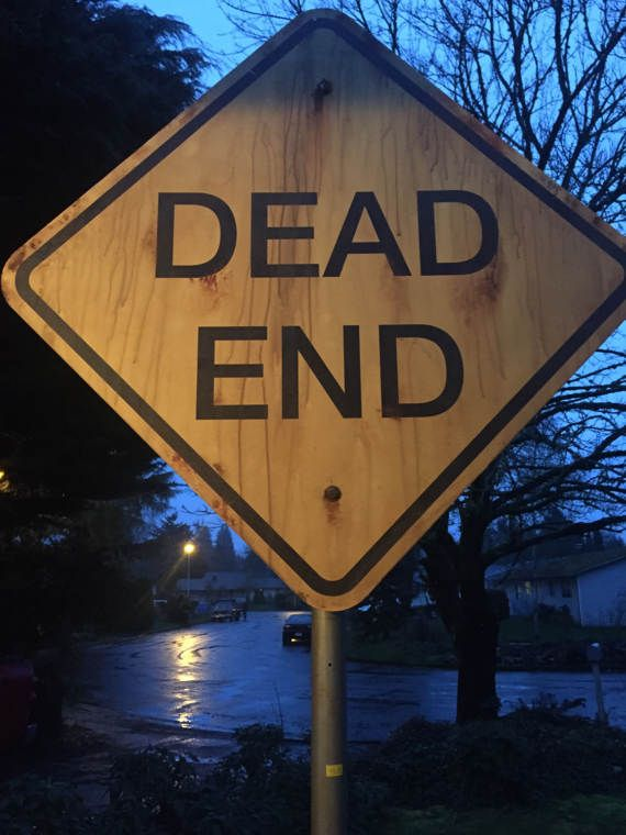 """Authentic Grimm TV Show Production Prop: """"Dead End"""" Street Sign from Episode 605"""
