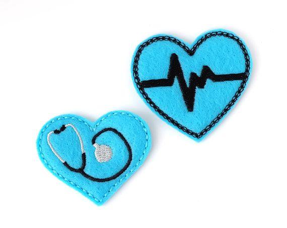 Turquoise RN Badge Reel Bundle  Felt Badge Reels  Retractable Nurse Badge Holders by BadgeBlooms, $13.00