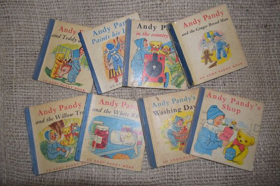 Andy Pandy. Softcover Vintage Children's Reading by BookBugs  #andypandy #ilovereading