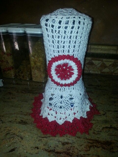 Forro Para Licuadora Made With Crochet Embroidery Work