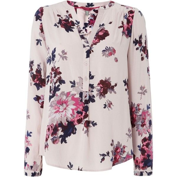 Joules Pop Over Blouse (€70) ❤ liked on Polyvore featuring tops, blouses, off white, women, joules tops, shirt blouse, shirt tops, vintage white blouse and cotton blouse