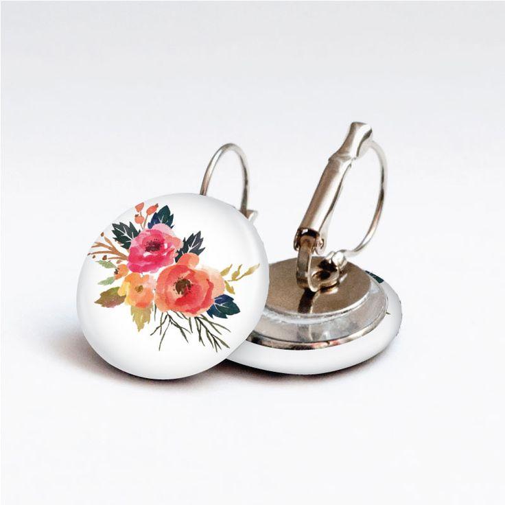 Náušnice květinové náušnice earrings www.udelejsiplacku.cz udělej si placku