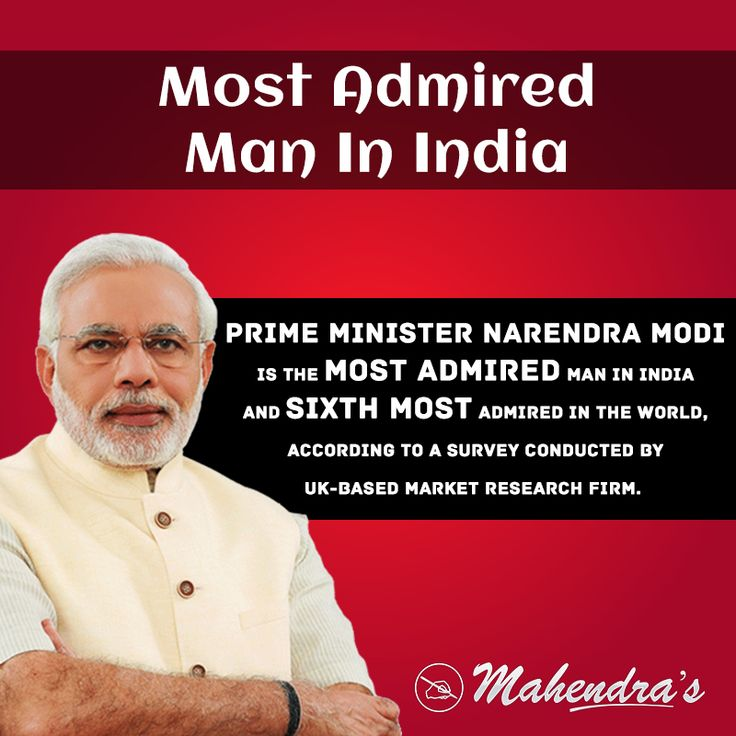 Prime Minister NarendraModi is the most admired man in